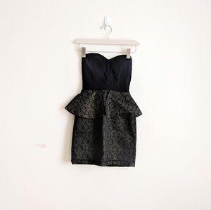 Sold ⛔️ Nasty Gal   Peplum Strapless Dress